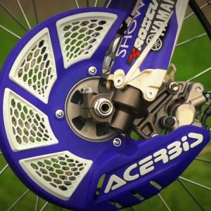 Acerbis X-Brake Front Disc Cover with Mounting Kit Blue