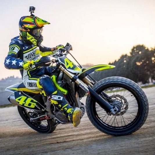 Motocross Motogp Rossi And Marquez Train Well For The