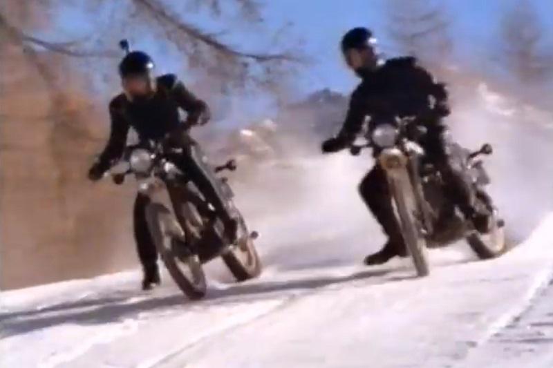 james bond death motorcycle number 5